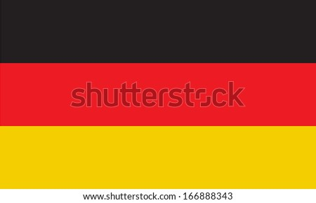 Flag of Germany. Vector. Accurate dimensions, element proportions and colors.