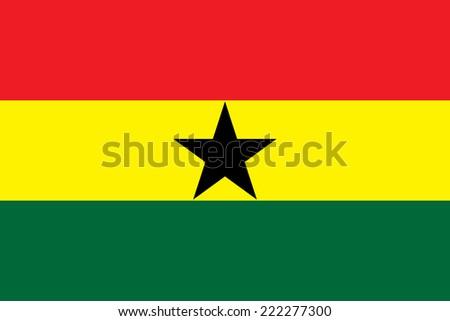 Flag of Ghana - stock vector