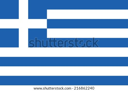 Flag of Greece - stock vector