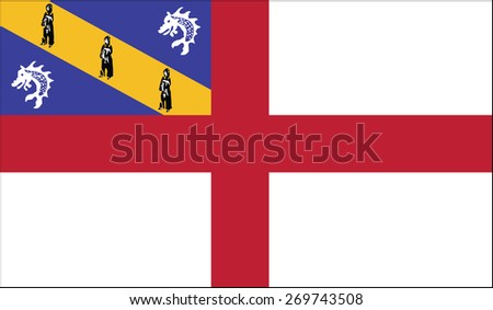 Flag of Herm with old texture. illustration