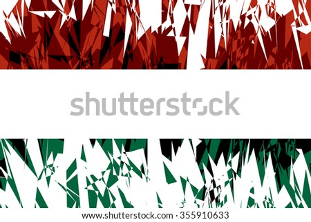 Flag of Hungary in grunge style. Vector illustration.