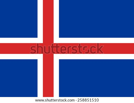Flag of Iceland - stock vector