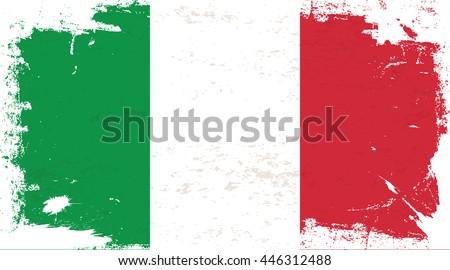 Flag of Italy in the ancient.