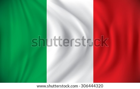 Flag of Italy - vector illustration - stock vector