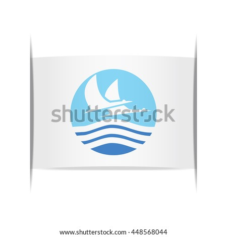 Flag of Izumi (Kagoshima Prefecture, Japan). Vector illustration of a stylized flag. The slit in the paper with shadows. Element for infographics.