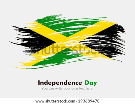 Flag of Jamaica. Flag in grungy style. Independence Day. - stock vector