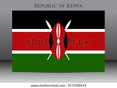Flag of Kenya.Kenya flag vector illustration. - stock vector