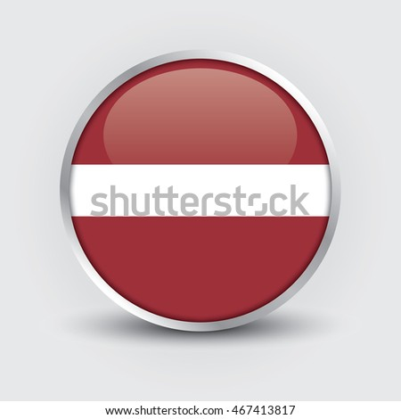 Flag of Latvia glossy button