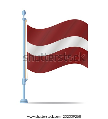 Flag of Latvia vector illustration