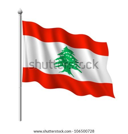 Flag of Lebanon, vector illustration - stock vector