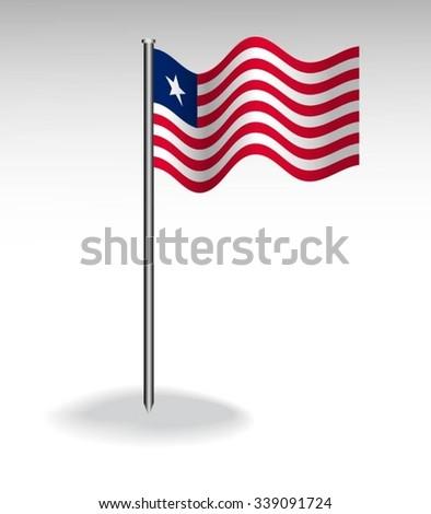 Flag of Liberia - stock vector