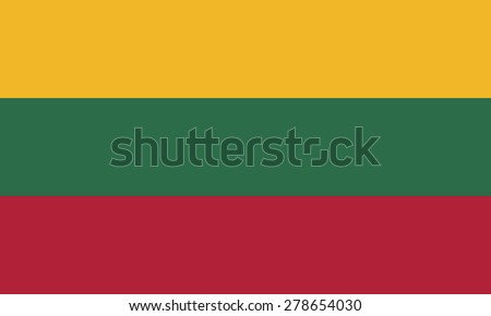 Flag of Lithuania - stock vector