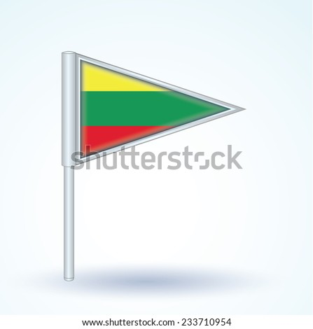 Flag of Lithuania, vector illustration