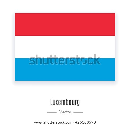 Flag of Luxembourg. Flag of Luxembourg vector. Flag of Luxembourg isolated. Flag of Luxembourg eps. Flag of Luxembourg illustration. Flag of Luxembourg icon. Flag of Luxembourg ui. Luxembourgn flag. - stock vector