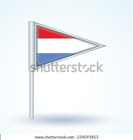 Flag of Luxembourg, vector illustration