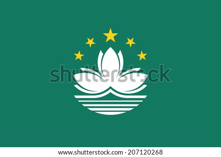 Flag of Macau. Vector. Accurate dimensions, element proportions and colors. - stock vector