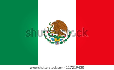 Flag Of Mexico - stock vector