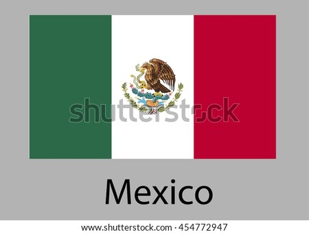 Flag of Mexico. Vector illustration.
