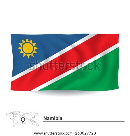 Flag of Namibia - vector illustration - stock vector