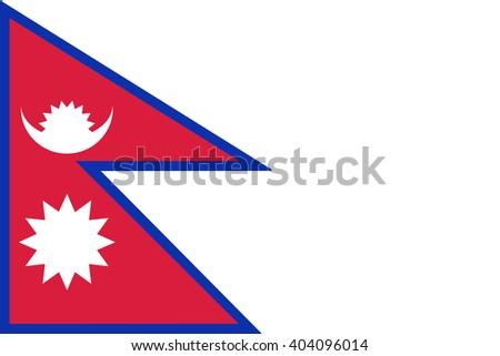 Flag of Nepal - stock vector