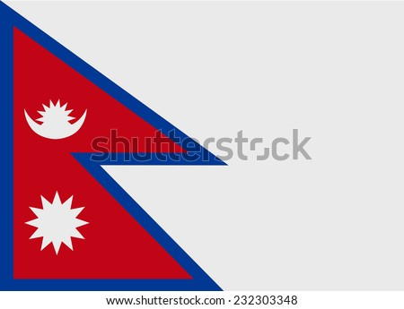 Flag of Nepal vector illustration - stock vector