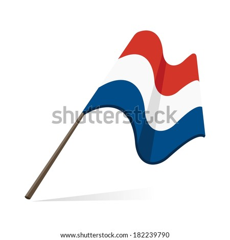 flag of netherlands - stock vector