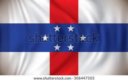 Flag of Netherlands Antilles - vector illustration