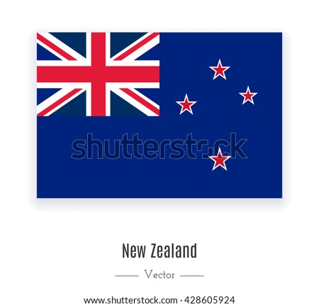 Flag of New Zealand. Flag of New Zealand vector. Flag of New Zealand isolated. Flag of New Zealand eps. Flag of New Zealand icon. Flag of New Zealand ui. Flag of New Zealand web. Flag of New Zealand. - stock vector