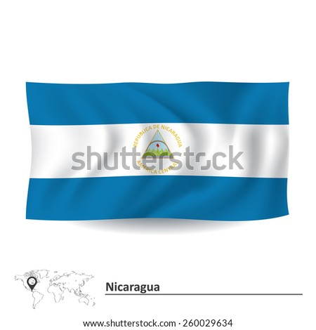 Flag of Nicaragua - vector illustration - stock vector