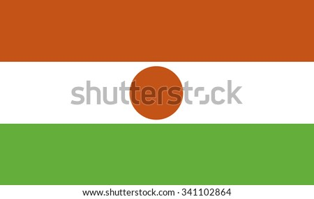 flag of niger - stock vector