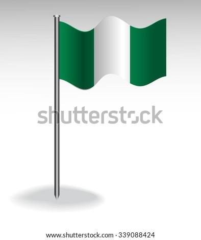 Flag of Nigeria - stock vector