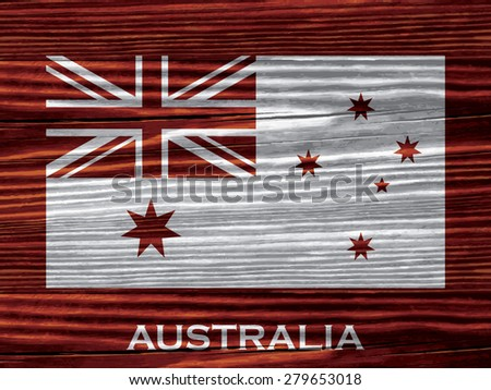 Flag of on wooden background - stock vector
