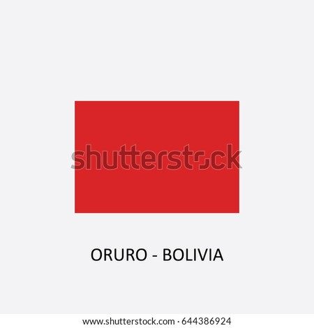 Flag of Oruro - Bolivia Vector Illustration