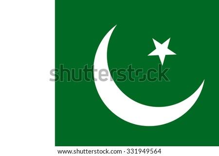 flag of Pakistan - stock vector