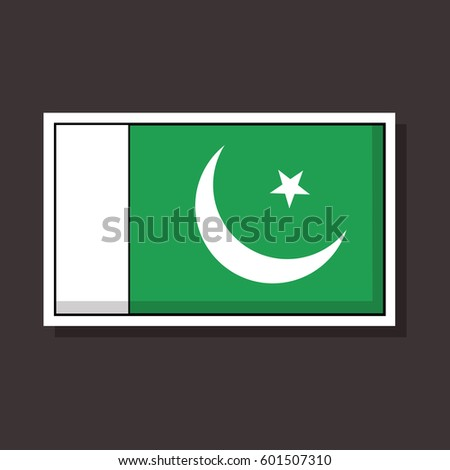 Flag of pakistan vector sticker design