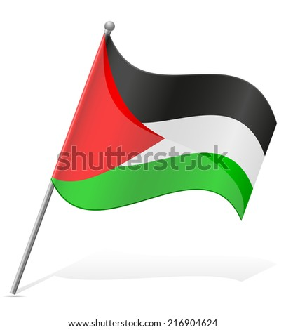 flag of Palestine vector illustration isolated on white background - stock vector