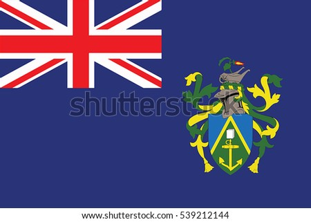 Flag of Pitcairn Islands. Vector Format