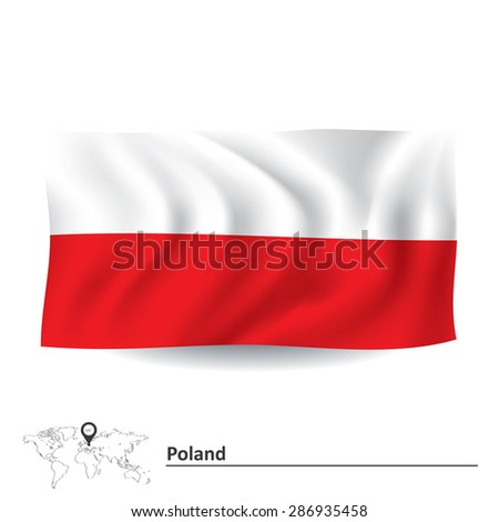 Flag of Poland - vector illustration - stock vector
