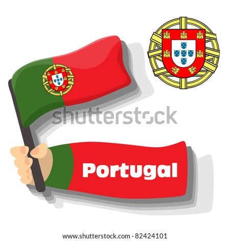 Flag of Portugal icon, vector flags of europe series.