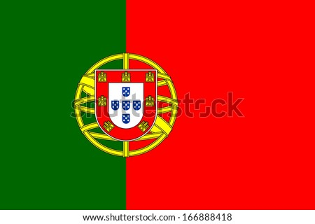 Flag of Portugal. Vector. Accurate dimensions, element proportions and colors. - stock vector