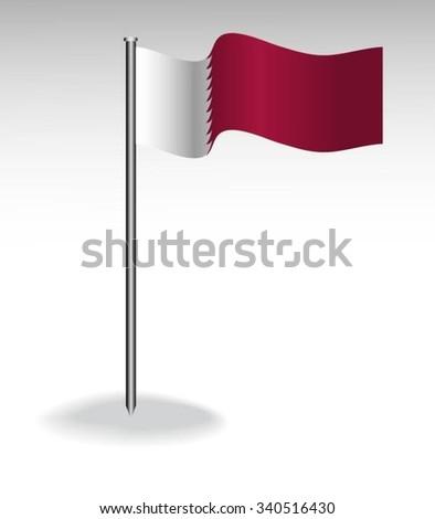 Flag of Qatar - stock vector