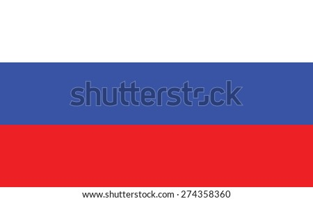 Flag of Russia - stock vector