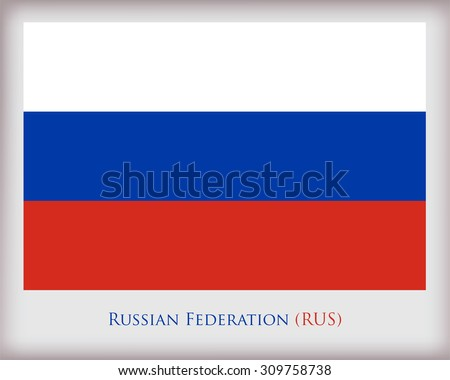 Flag of Russia.Russia flag vector illustration. - stock vector