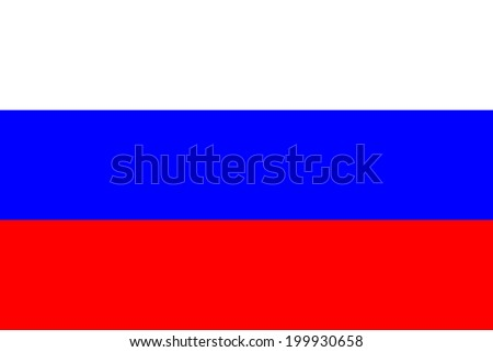 Flag of Russia. Vector illustration. - stock vector