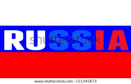 Flag of Russia vector illustration. National flag.