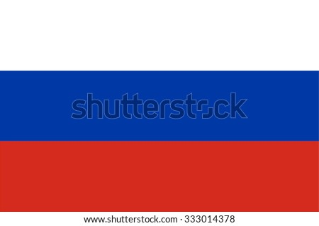 Flag of Russian Federation (Russia) - stock vector
