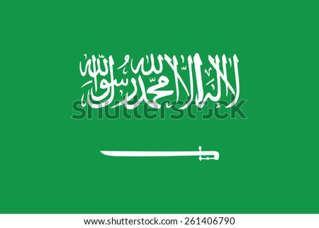 flag of Saudi Arabia. Vector illustration. - stock vector