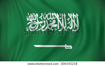 Flag of Saudi Arabia - vector illustration - stock vector