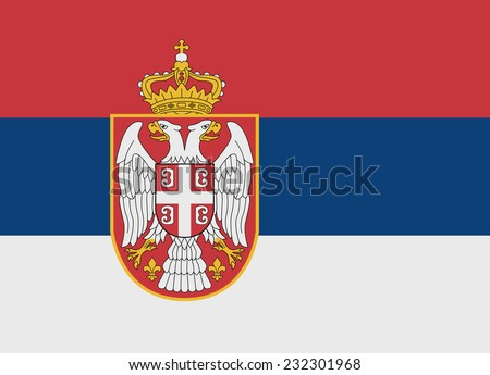 Flag of Serbia vector illustration - stock vector