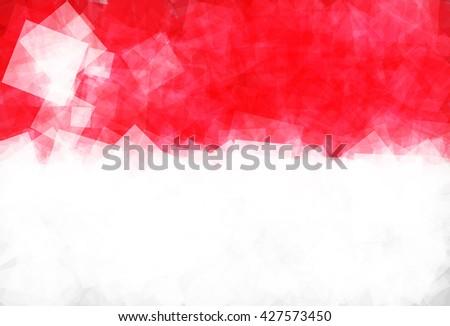 Flag of Singapore (Republic of Singapore) in Vector Square Design - stock vector